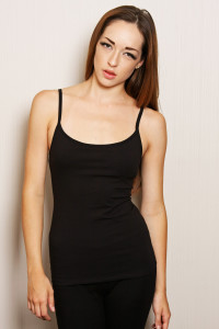padded cami black for small busted women