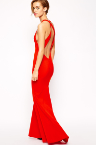 long red dress Holiday Fashion