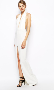 long backless white dress Holiday Fashion