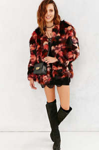 faux fur coat holiday fashion