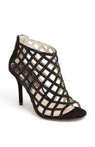black cage sandals holiday fashion