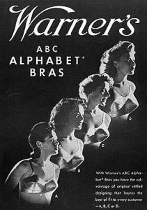 Warners Alphabet Bras 1940's